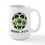 Brazil (Brasil) World Cup 2014 Large Mug