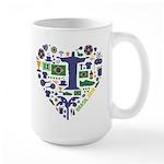 Brazil (Brasil) World Cup Heart Large Mug