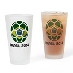 Brazil (Brasil) World Cup 2014 Drinking Glass