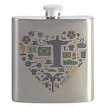 Brazil (Brasil) World Cup Heart Flask