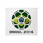 Brazil (Brasil) World Cup 2014 Throw Blanket