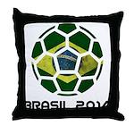Brazil (Brasil) World Cup 2014 Throw Pillow