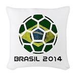 Brazil (Brasil) World Cup 2014 Woven Throw Pillow