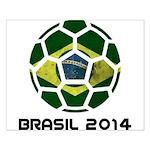 Brazil (Brasil) World Cup 2014 Small Poster
