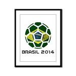 Brazil (Brasil) World Cup 2014 Framed Panel Print