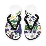 Brazil (Brasil) World Cup Heart Flip Flops