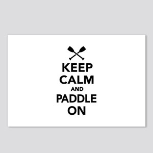 Keep calm and Paddle on Postcards (Package of 8)