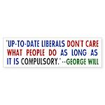 Liberal Compulsion Bumper Sticker