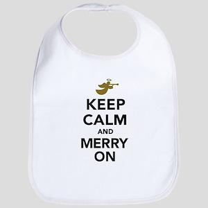 Keep calm and Merry on Bib