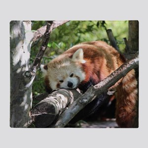 Sleepy Red Panda Throw Blanket