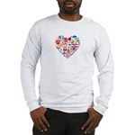 Croatia World Cup 2014 Heart Long Sleeve T-Shirt
