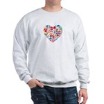 Croatia World Cup 2014 Heart Sweatshirt