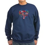 Croatia World Cup 2014 Heart Sweatshirt (dark)