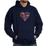 Croatia World Cup 2014 Heart Hoodie (dark)