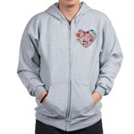Croatia World Cup 2014 Heart Zip Hoodie