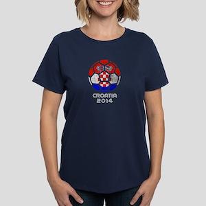 Croatia World Cup 2014 Women's Dark T-Shirt