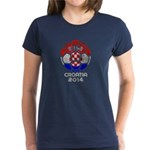 Croatia World Cup 2014 Women's Dark T-Shirt