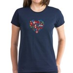 Croatia World Cup 2014 Heart Women's Dark T-Shirt