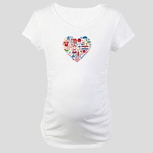 Croatia World Cup 2014 Heart Maternity T-Shirt