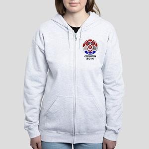 Croatia World Cup 2014 Women's Zip Hoodie