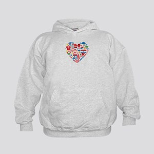 Croatia World Cup 2014 Heart Kids Hoodie