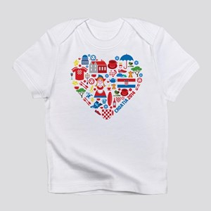 Croatia World Cup 2014 Heart Infant T-Shirt