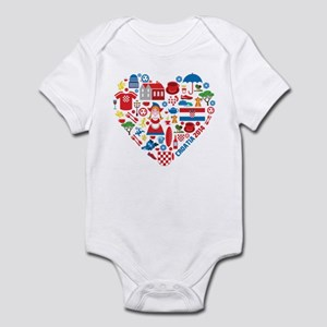 Croatia World Cup 2014 Heart Infant Bodysuit
