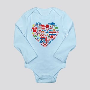 Croatia World Cup 2014 Long Sleeve Infant Bodysuit