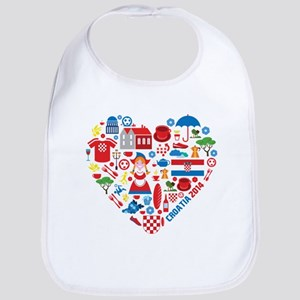 Croatia World Cup 2014 Heart Bib