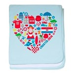 Croatia World Cup 2014 Heart baby blanket