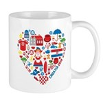 Croatia World Cup 2014 Heart Mug