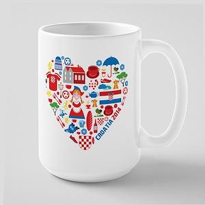Croatia World Cup 2014 Heart Large Mug