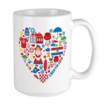 Croatia World Cup 2014 Heart Large Mug