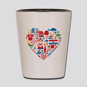 Croatia World Cup 2014 Heart Shot Glass