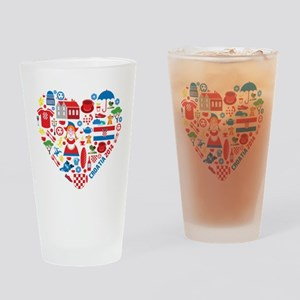 Croatia World Cup 2014 Heart Drinking Glass