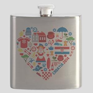 Croatia World Cup 2014 Heart Flask