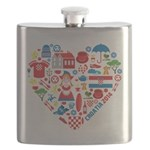 Croatia World Cup 2014 Heart Flask