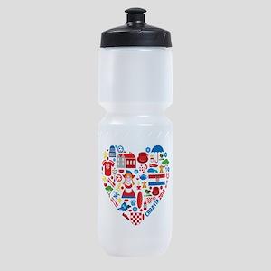 Croatia World Cup 2014 Heart Sports Bottle
