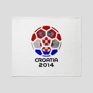 Croatia World Cup 2014 Throw Blanket