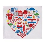Croatia World Cup 2014 Heart Throw Blanket