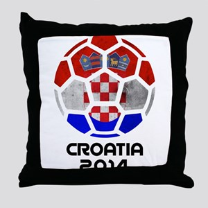 Croatia World Cup 2014 Throw Pillow