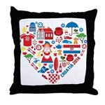Croatia World Cup 2014 Heart Throw Pillow