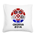 Croatia World Cup 2014 Square Canvas Pillow