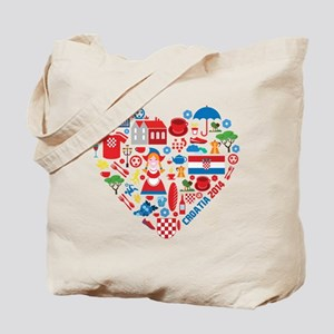 Croatia World Cup 2014 Heart Tote Bag