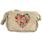 Croatia World Cup 2014 Heart Messenger Bag