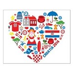 Croatia World Cup 2014 Heart Small Poster