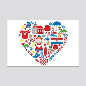 Croatia World Cup 2014 Heart Mini Poster Print