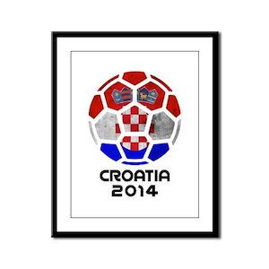Croatia World Cup 2014 Framed Panel Print