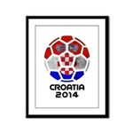 Croatia World Cup 2014 Framed Panel Print