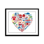 Croatia World Cup 2014 Heart Framed Panel Print